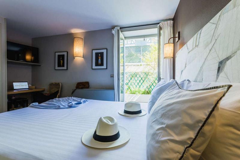 La chambre standart rez de jardin, Hôtel Edouard 7