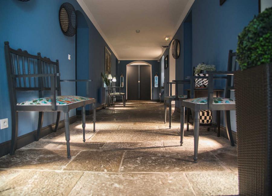 Accès au rez de jardin, Hôtel Edouard VII
