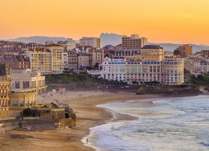 La vie à Biarritz en été